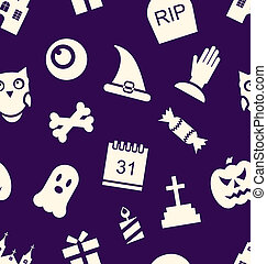 Halloween Seamless Pattern - Illustration Halloween Seamless...
