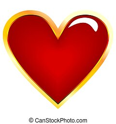 Realistic illustration of golden heart - vector