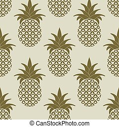 Seamless Pattern with Pineapples - Seamless Pattern with...