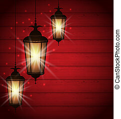 Arabic lamps for holy month of muslim community -...
