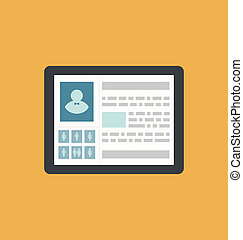 Id card profile person social media network icon - vector