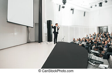 Speaker at Business convention