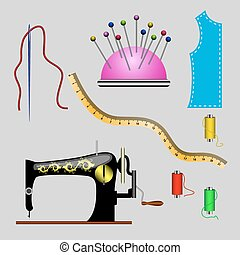 Set of sewing