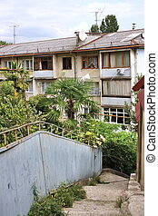old residential area in the city of Sochi