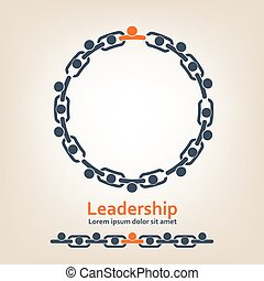 People in chain - leadership