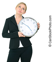 Businesswoman Cant Wait To Get Off From Work - unhappy...