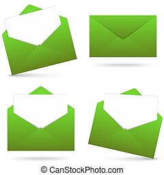Envelopes with notepad collection - collection of green...