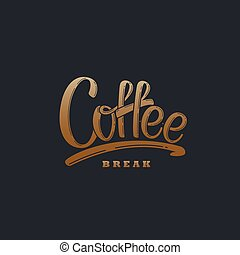 Coffee. Vector Lettering Illustration - Coffee. Vector...