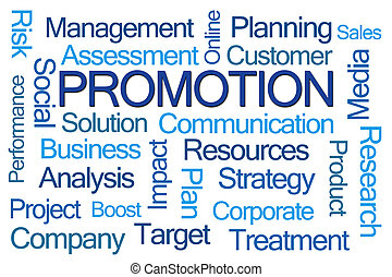 Promotion Word Cloud on White Background