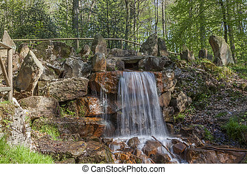 Waterfall in Lower Saxony, Germany - Waterfall at the casino...