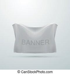 white textile banner mock-up. vector illustration