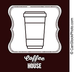 coffee house design - coffee house design, vector...