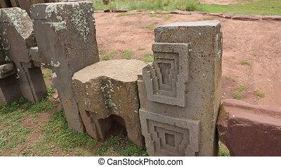 fila, de, megalítico, piedras,