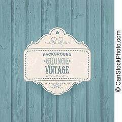 Wooden Background With Vintage Frame