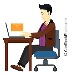 Man receiving email.