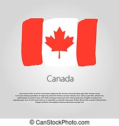 Canada Flag with colored hand drawn lines in Vector Format