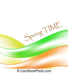 Abstract vector background. Spring time.