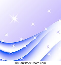 Abstract background with stars. Vector Illustration