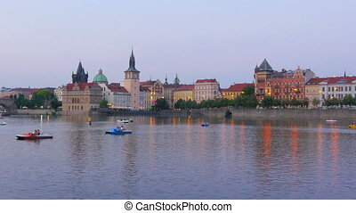 quot;prague view at sunset, czech republic, 4kquot; - prague...