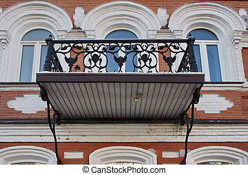 balcony on a residential building in the city of Perm