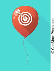 Long shadow balloon with a dart board - Illustration of a...