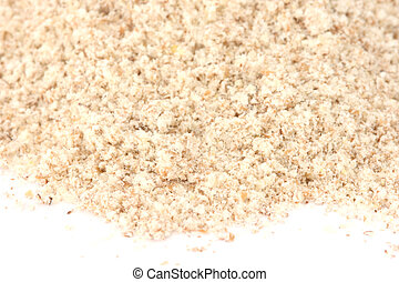 Flour - wholemeal type - Close up view of wholemeal flour on...