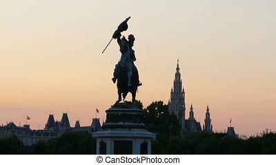 """""""archduke charles statue on heldenplatz in habsburg palace,..."""
