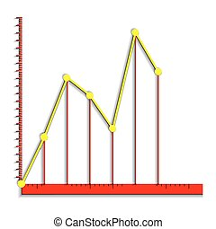 infographics line graph - Vector illustration infographic...