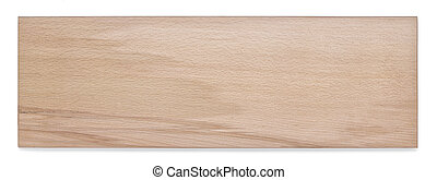 Top view of wooden plank isolated on white background