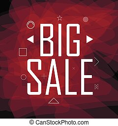 Big sale triangular abstract background - Big sale...