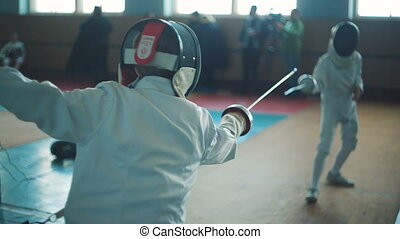 Competition of Fencers - Two man fencers on competition