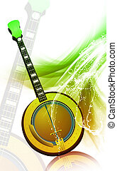 Mandolin	 - Illustration of a mandolin with music notes