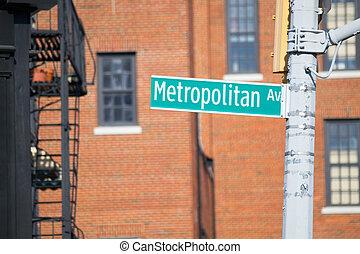 Metropolitan av sign