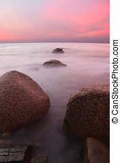Pink Sunset  - Sunset at Hallet Cove, SA
