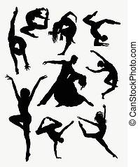 Contemporary dance silhouette