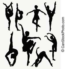 Dancer silhouette - Tradition and modern dance silhouette....