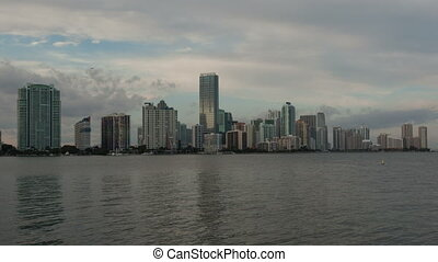 4K Time lapse Miami Skyline long version - 4K Timelapse...