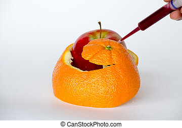 Gene editing an orange - GMO are living organisms whose...