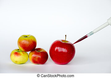 Inflating apples - GMO are living organisms whose genetic...