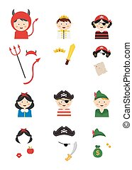 kids wearing different costumes . - kids wearing different...