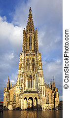 ulm - A photography of the beautiful church in Ulm Germany
