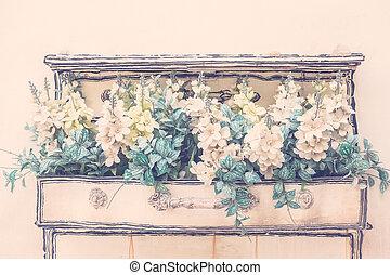 Vase flower - Vaser flower decoration on wall - Vintage...