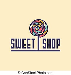sweet shop logo. candy icon for cafe, for web sites. Vector...