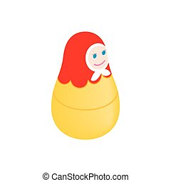 Russian matryoshka isometric 3d icon
