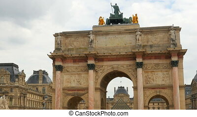 quot;view of louvre museum, paris, francequot; - view of...