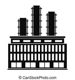 Plant industrial building icon - Plant industrial building...