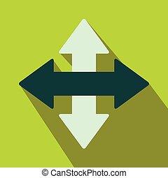 Cross arrows flat icon