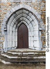 fechado, igreja, PORTA,