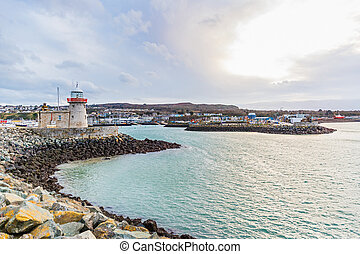 Howth lighthouse in Ireland - Photo of Howth lighthouse in...