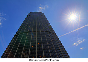 Backlit Montparnasse - The skyscraper Tour Montparnasse seen...